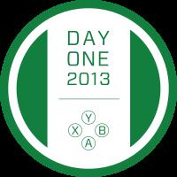Prototype Xbox One Day One badge.